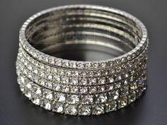 R.J. Graziano rhinestone bangle bracelets