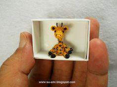Tiny Walking Giraffe  Micro Dollhouse Miniature Animals  by suami, $48.00