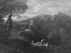 Paisaje del Lazio con torre y figuras, Roma :)