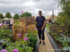 Juliet Sargeant pictured in the RHS Kitchen Garden, at the RHS Hampton Court Palace Flower Show Rhs Hampton Court, Potager Garden, Shows 2017, Flower Show, Growing Vegetables, Vegetable Garden, The Hamptons, Palace, Flowers