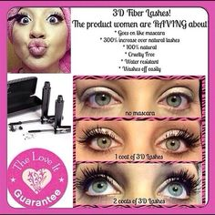 Check out Younique's 3D Fiber Lash Mascara!!  False lash look without the hassle!!  ~Younique by Catrina, Independent Presenter. www.youniqueproducts.com/CatPurlee