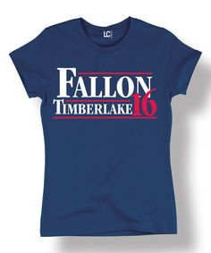 5bdc3e4d2920aa Love this Navy  Fallon Timberlake  16  Tee by Sharp Wit on  zulily