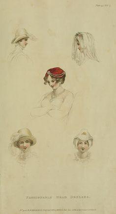 Headdresses, 1811 Ackermann