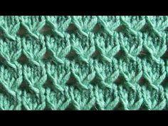 YouTube Lace Knitting Patterns, Knitting Stiches, Knitting Videos, Knitting Charts, Loom Knitting, Knitting Designs, Free Knitting, Crochet Stitches, Baby Knitting