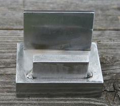 Business Card Holder Handmade Welded Steel Chunks