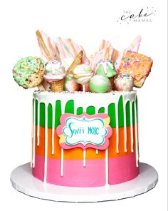 Call or email to order your celebration cake today. Sherbet Ice Cream, Rainbow Sherbet, Cakes Today, Cupcake Wars, Marble Cake, Drip Cakes, Cakepops, Celebration Cakes, Custom Cakes
