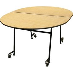"""Palmer Hamilton Elongated Cafeteria Table Tabletop Color: Walnnut Grove, Size: 27"""" H x 60"""" W x 70"""" D"""