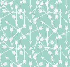 Arrows Pale Turquoise OEKO-TEX® Standard 100