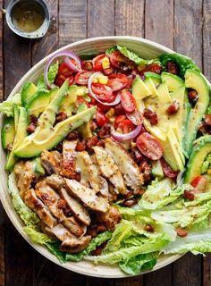 Leichte Küche: Avocado-Hähnchen-Salat