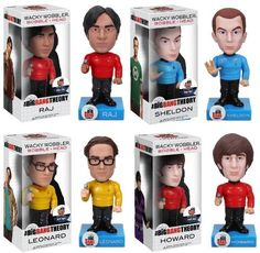 Star Trek Big Bang Theory Wacky Wobbler Set Of 4 @ niftywarehouse.com