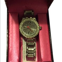 Betsey Johnson watch Silver watch. Links and box included. Never worn Betsey Johnson Jewelry