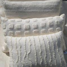 musings of a 'Maker' Felt Cushion, Felt Pillow, Textile Design, Textile Art, Felted Wool Crafts, Felt Decorations, Nuno Felting, Handmade Felt, Fabric Manipulation