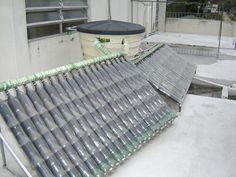 DIY Plastic Bottle Solar Water Heater - Re-use plastic soda bottles and milk cartons to make this solar water heater...