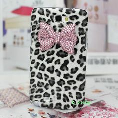 Bling Candy 3D Bow Crystal Leopard Case Cover For Samsung Galaxy Note 2 N7100