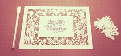Keepsake Papercut - Be My Valentine    A template to download
