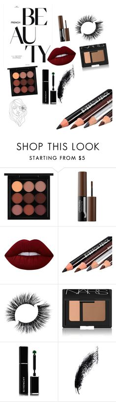 """mocha mama"" by boogieocg ❤ liked on Polyvore featuring beauty, MAC Cosmetics, Sephora Collection, Lime Crime, NARS Cosmetics, Givenchy and PBteen"