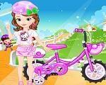 Em Princesinha Sofia Bicicleta Estilosa, a Princesinha Sofia está de ferias da escola e hoje ela vai passar o dia brincando de bicicleta com as outras crianças. Junte-se a Princesinha Sofia e escolha um lindo e descolado visual para ela brincar. Divirta-se com a Princesinha Sofia!