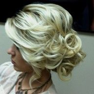 Loose updo cute i wish my hair was longer then i could do this but i wanta keep my layers Hair Hair Prom Hairstyles For Short Hair, My Hairstyle, Pretty Hairstyles, Wedding Hairstyles, Wedding Updo, Prom Updo, Bridal Updo, Homecoming Updo, Senior Prom