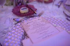 Radiant Orchid Inspired Wedding | The MIAMI Rose | A five course menu inspired by the couple's travels, favorite dishes, and love for food | www.themiamirose.com