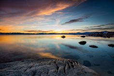 Magnificent Sunset over Lake Tahoe