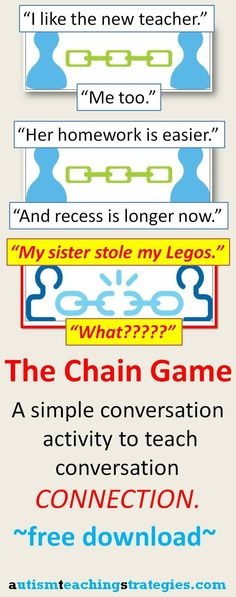 "Using chain and building images to promote ""connected"" conversation 