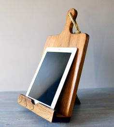 Wood Cutting Board Cookbook & iPad Stand