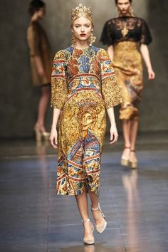 Russian orthodox Christian icon. Milan Fashion Week: Dolce and Gabbana Fall 2013 / Photo by Anthea Simms