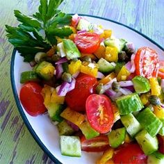 """Cucumber Salad with Dill Vinaigrette 