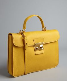 Miu Miu sunny yellow leather postman lock convertible shoulder bag | BLUEFLY up to 70% off designer brands