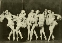 The Albertina Rasch Dancers from the Ziegfeld Follies. Thanks to ziegfeldfollies [link] for the hint. I used stock from: CcTheMonkey [link] [. The Danse Macabre Of Weimar Cabaret, La Danse Macabre, Folies Bergeres, Vintage Ballet, Vintage Dance, Vintage Burlesque, 1920s Dance, Vintage Corset, Vintage Circus