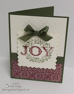 Welcome Christmas JOY Card by LorriHeiling - Cards and Paper Crafts at Splitcoaststampers