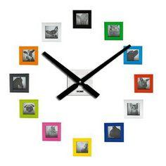 En nuestra sección TRENDY · DIY  Reloj de pared con fotos.Tus mejores recuerdos para pasar mejor el tiempo. Para ver el DIY completo visita www.foreveryoungo...