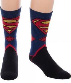 Collectables - DC Comics Superman Suit Up Crew Socks