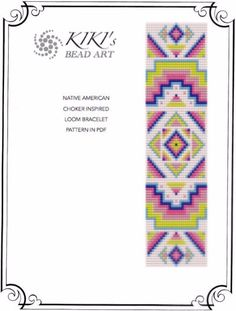 Loom pattern for bracelet  Native American von KikisBeadArts