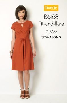 Butterick designer Liesl Gibson is hosting a sewalong for this dress pattern, B6168. Great for beginning to intermediate sewers who are ready to try a pattern with some very cute design features.