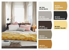 Paint colors from Chip It! by Sherwin-Williams, almost exactly what I planned for my bedroom!