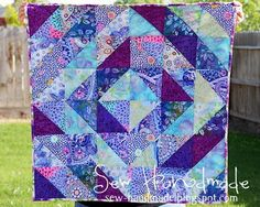 Sew Handmade: Sew Handmade :: History of Quilts Purple Quilts, Purple Bedding, Purple Fabric, Quilting Tutorials, Quilting Projects, Quilting Designs, Sewing Projects, Easy Quilts, Mini Quilts