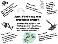 A one page sheet filled with quick facts about Poisson d'Avril that you can hand out to your students or hang up in your classroom on a bulletin bo...