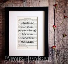 Gift Boxed Wuthering Heights Print - Romantic Gifts For Her - Love Print For Him £16.98
