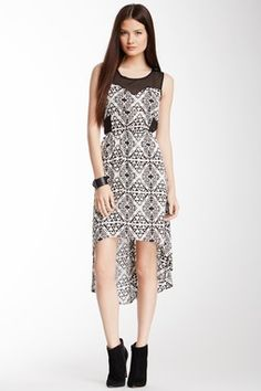 Romeo & Juliet Couture Printed Hi-Lo Dress