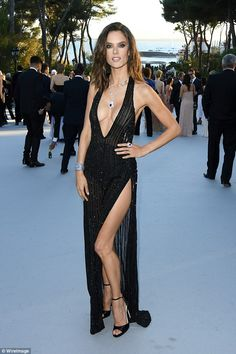 2e19ab9a2ad4 Alessandra Ambrosio above at amfAR's 23rd Cinema Against AIDS Gala today,  has finally reve.