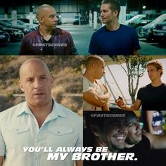 I notice that PW & Vin Diesel always be amazing to work together for many years. That is how they become real brothers. I miss them.