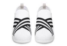 best sneakers 0cbdb 9515a White Mountaineering adidas Superstar Slip-On releases in Blue and White  colorways built with Primeknit uppers, elastic straps, shell toe and nubuck  heels.