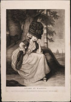 A Lady in Waiting, September 2, 1780, Lewis Walpole Library Digital Collection
