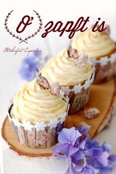 Gebrannte Mandeln Cupcakes zum Oktoberfest