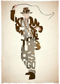 Typographic Indiana Jones Poster