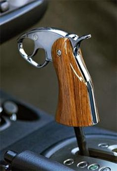 What about a shotgun for my Jeep? Pistol grip shifter why not.) I want one for the Jeep! But I want one of a Colt Cars Vintage, Automobile, Buggy, 4x4 Trucks, Truck Accessories, Car Parts, Truck Parts, Supercars, Cars And Motorcycles