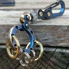 Titanium Key Chain with Swivel. por EdcApparatus en Etsy