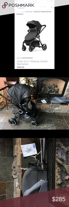 """Chicco Urban TAGS STILL ATTACHED✨ EXACTLY THE SAME one as the stock photos, same pattern with all accessories/items that it comes with! Absolutely Nothing wrong, we just bought it to use on a trip but ended up taking our other strollers(***I ALSO HAVE THOSE FOR SALE, Orbit Baby & a Mima Xari***)...This was a """"Display"""" so the seats and everything is brand new but the frame does show some wear(picture on add). Original Tags Still Attached. Originally $400+, we paid $325 since it was a display…"""
