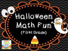 Halloween Math Fun {First Grade}